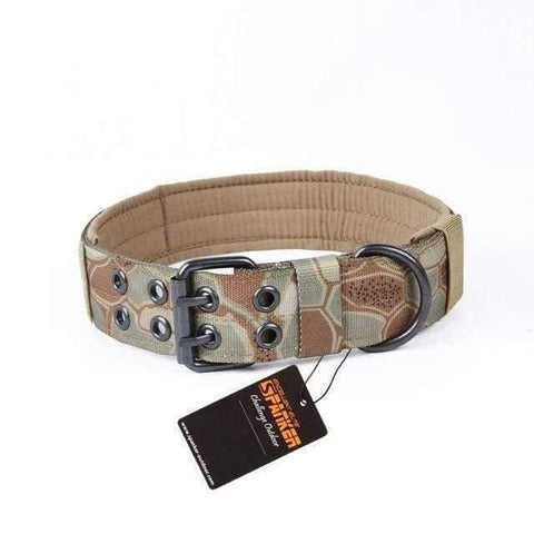 Spanker Camouflage Collar - Green Brown Beige / M