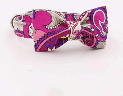 Pink Mandala Collar With Bow Tie