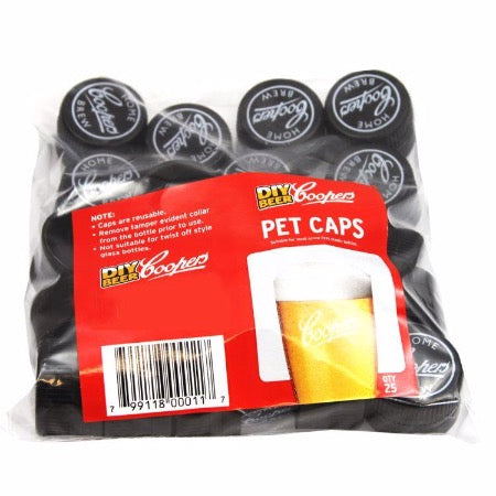 Spare Caps For Coopers PET Beer Bottles - Pack Of 25