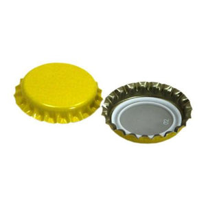 Beer Crown Caps - Yellow