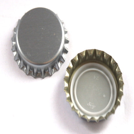 Beer Crown Caps - Silver