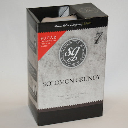 Solomon Grundy Platinum 30 Bottle Wine Kit - Chardonnay