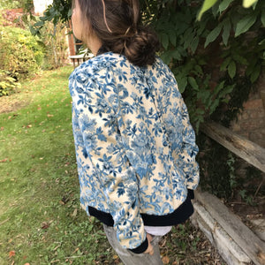 Teddy- Blouson Jacquard Blue Flowers