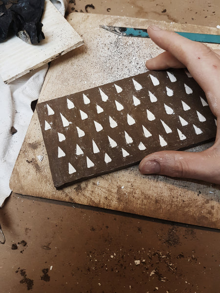 Introducing the work of artist / ceramicist Claire de Lune for Margate Tile Makers