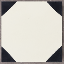 geometric black and cream concrete tile - Handmade Tiles // Margate