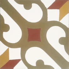 traditional multi-colour concrete tile - Handmade Tiles // Margate