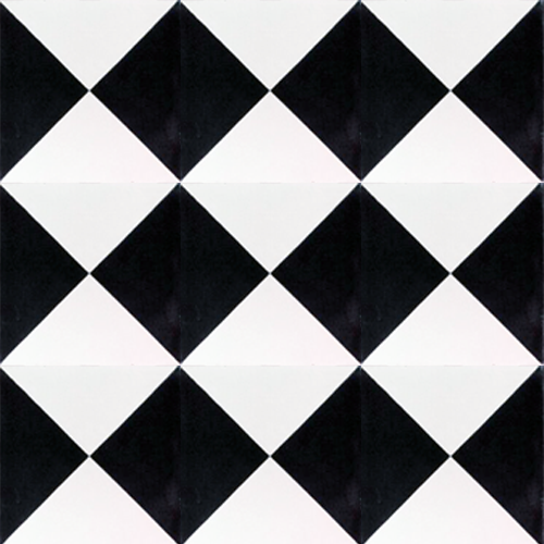geometric black / white concrete tile - Handmade Tiles // Margate