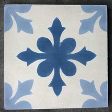 traditional pattern blue / white concrete tile - Handmade Tiles // Margate