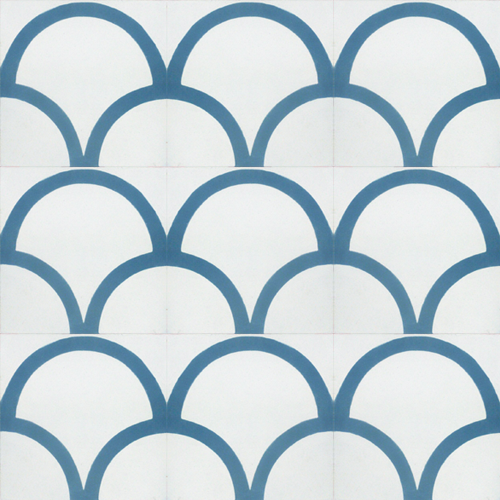 contemporary blue / white concrete tile - Handmade Tiles // Margate