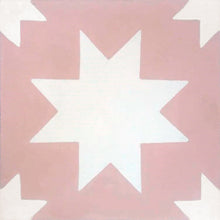 geometric pink / white concrete tile - Handmade Tiles // Margate