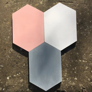 elongated hexagon shape concrete tile - Handmade Tiles // Margate