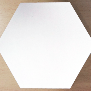 single colour white hexagonal concrete tile - Handmade Tiles // Margate