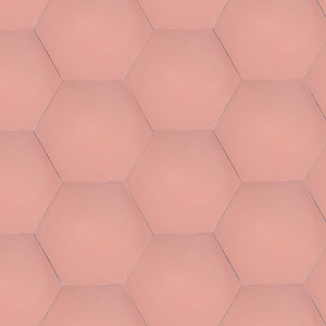 single colour pink hexagonal concrete tile - Handmade Tiles // Margate