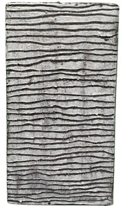 black stoneware clay tile with chiselled porcelain finish - Claire de Lune for Margate Tile Makers - Handmade Tiles // Margate