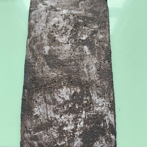 black stoneware clay tile with textured porcelain finish - Claire de Lune for Margate Tile Makers - Handmade Tiles // Margate