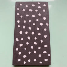 black stoneware clay tile with spotted porcelain finish - Claire de Lune for Margate Tile Makers - Handmade Tiles // Margate