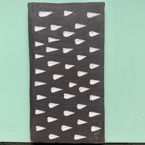 black stoneware clay tile with teardrop porcelain finish - Claire de Lune for Margate Tile Makers - Handmade Tiles // Margate