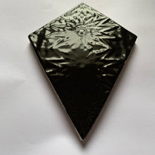 handmade black glazed earthenware ceramic kite tile - Handmade Tiles // Margate
