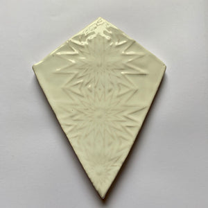 handmade white glazed earthenware ceramic kite tile - Handmade Tiles // Margate