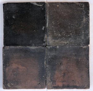 matte finish oil glazed charcoal terracotta tile - Handmade Tiles // Margate