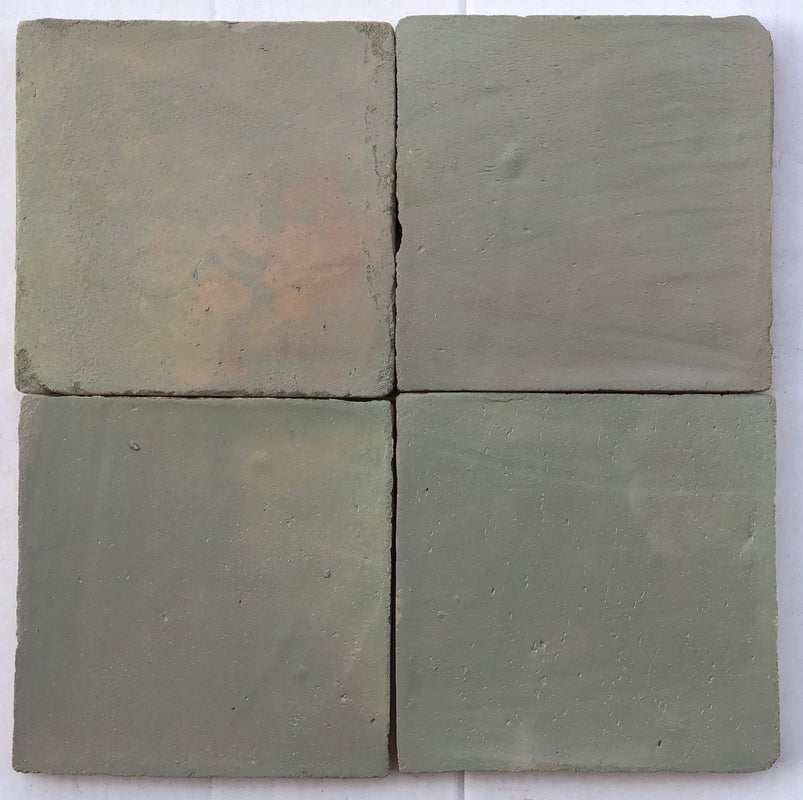 matte finish grey terracotta tile - Handmade Tiles // Margate
