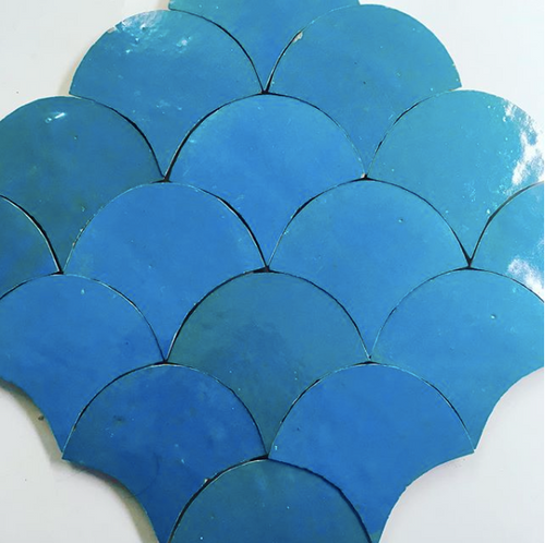 glazed terracotta fish scale tile - Handmade Tiles // Margate