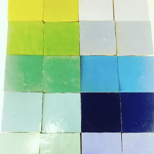 square glazed terracotta tile (10x10cm) - Handmade Tiles // Margate