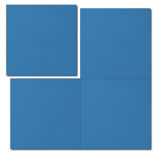 single colour azure blue concrete tile - Handmade Tiles // Margate