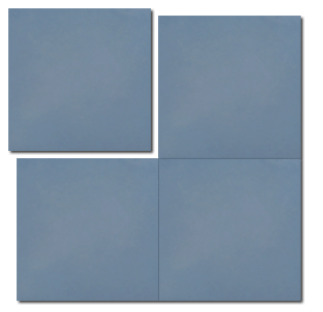 single colour blue concrete tile - Handmade Tiles // Margate