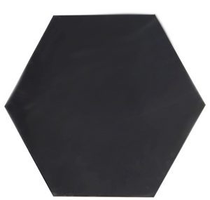 single colour black hexagonal concrete tile - Handmade Tiles // Margate