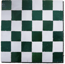 checkerboard glazed terracotta plaque - Handmade Tiles // Margate