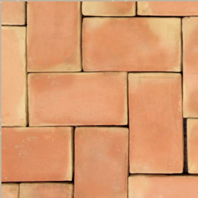 natural terracotta brick tile - IN STOCK - Handmade Tiles // Margate