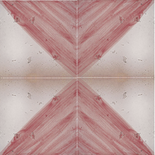 split colour off white / pink glazed terracotta tile - Handmade Tiles // Margate