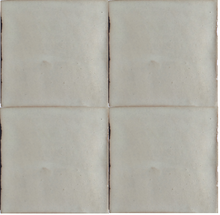 matte finish glazed off white terracotta tile - Handmade Tiles // Margate