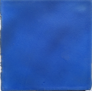 matte finish glazed true blue terracotta tile - Handmade Tiles // Margate