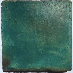 matte finish oil glazed aquamarine terracotta tile - Handmade Tiles // Margate