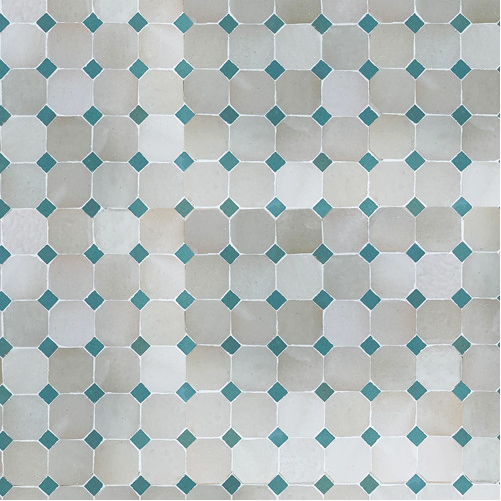 glazed terracotta two colour panel - IN STOCK - Handmade Tiles // Margate
