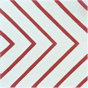 contemporary white / red concrete tile - Handmade Tiles // Margate