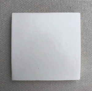 satin matte white glaze 10x10cm square tile - Margate Tile Works