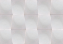 satin matte white glaze trapezoid tile - Margate Tile Works