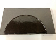 natural matte & high gloss glaze black clay tile - inlaid with circle // Margate Tile Works