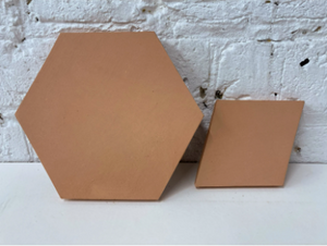 natural finish hexagonal terracotta tile - Margate Tile Works
