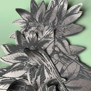 handcrafted and hand printed botanical tiles in aluminium - Rachel Ella Taylor for Margate Tile Makers - Handmade Tiles // Margate