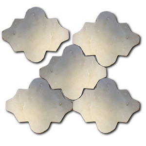 rounded Arabesque shaped glazed terracotta tile - Handmade Tiles // Margate