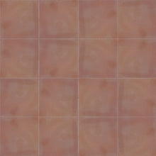 10x10cm single colour dark pink / brown concrete tile - Handmade Tiles // Margate