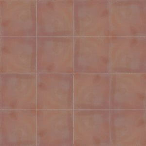 10x10cm single colour dark pink / brown concrete tile - IN STOCK - Handmade Tiles // Margate