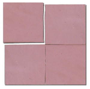 no.50 pink glazed terracotta tile - IN STOCK - Handmade Tiles // Margate