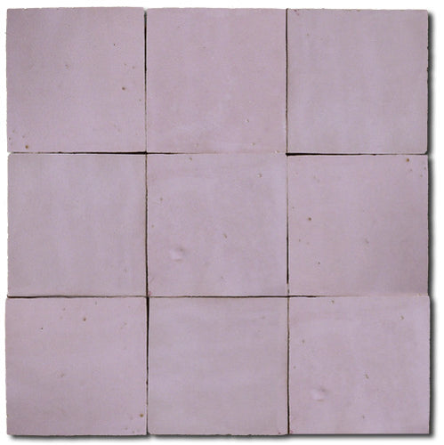 no.51 pink glazed terracotta tile - IN STOCK - Handmade Tiles // Margate