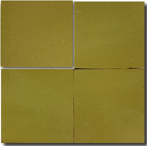 no.501 lime glazed terracotta tile - IN STOCK