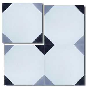 geometric white / grey / black concrete tile - Handmade Tiles // Margate